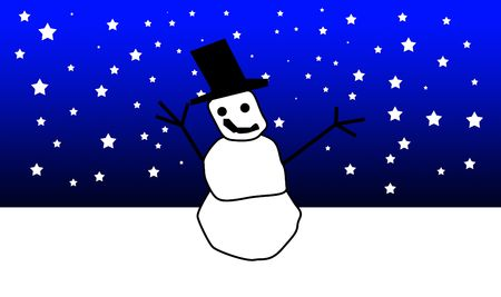 froze: A snowman for the seasonal christmas period. Stock Photo
