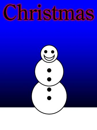 froze: A happy snowman for the Christmas period. Stock Photo