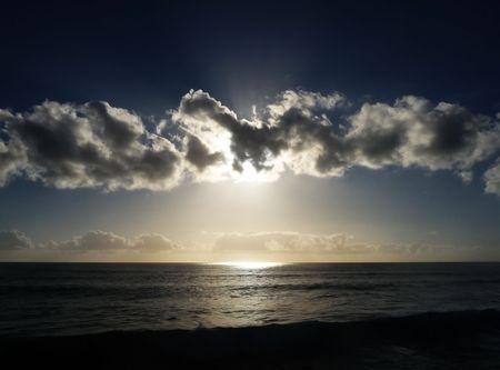 The sunset as seen from Maspalomas beach. Stock Photo - 6218578