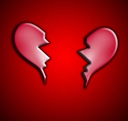 heartbreak: A broken heart representing heartbreak concepts.