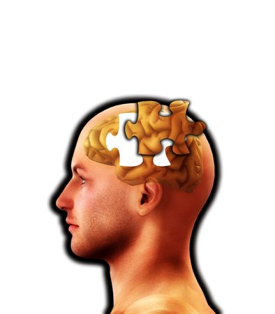 figurative: A conceptual image representing memory loss and alzheimers. Stock Photo