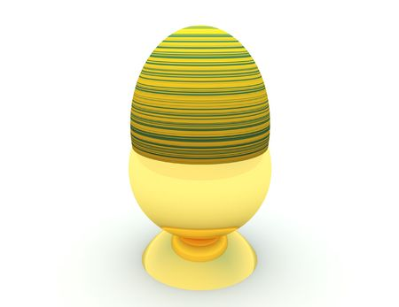 eggcup: A single Easter egg in an eggcup.