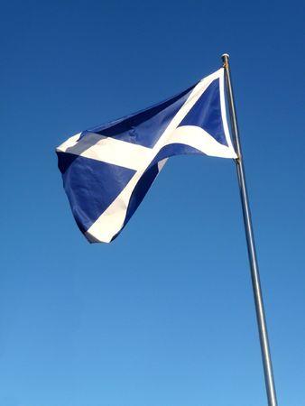 scottish flag: The Scottish flag the Saint Andrews Cross.  Stock Photo