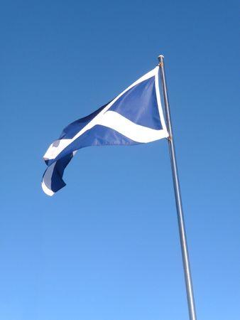 andrews: The Scottish flag the Saint Andrews Cross.  Stock Photo