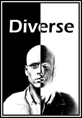 Imagen conceptual acerca de la diversidad humana.  Foto de archivo - 6720070