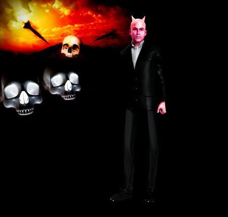 antichrist: A sinister devil wearing a smart suite.