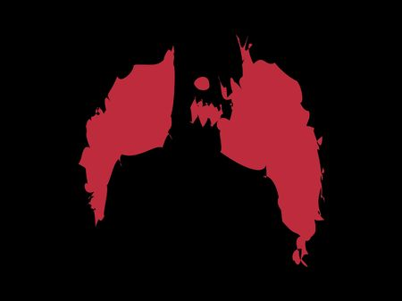 nightmarish: An illustrated image of a nightmarish figure.