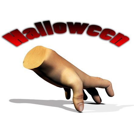 A disembodied hand for the Halloween holiday. Stock Photo