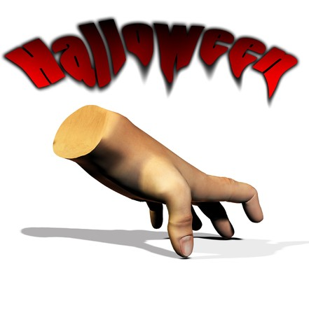 disembodied: A disembodied hand for the Halloween holiday. Stock Photo