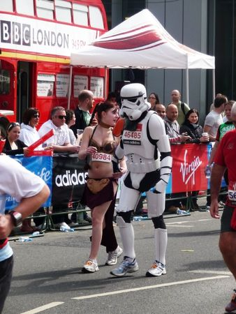 stormtrooper: London - April 25: Fun Runners at the 2010 London Marathon  April 25th, 2010 in London.