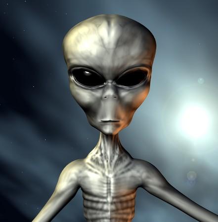 expresion corporal: Un ejemplo de un gris extraterrestre.
