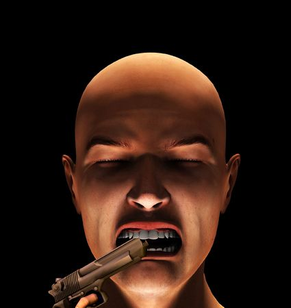 criminality: Concept image about fearing violence and criminality.