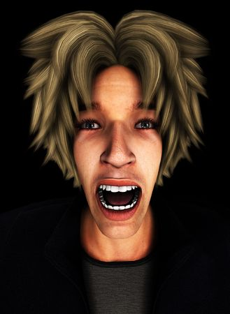 Concept image representing a person screaming in terror and fear. Stock Photo - 7256209
