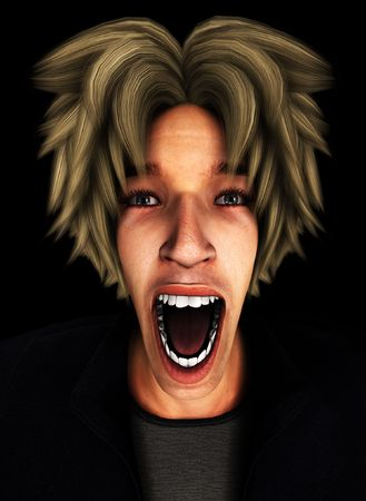 Concept image representing a person screaming in terror and fear. Stock Photo - 7256208