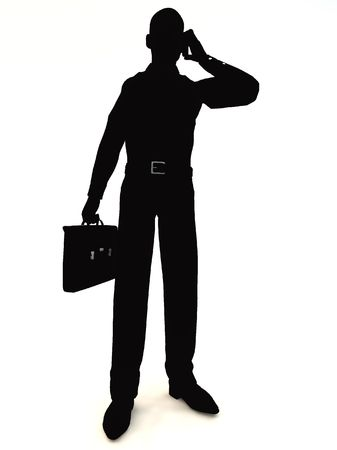 shadowy: Image of a very shadowy businessman, for business concepts. Stock Photo
