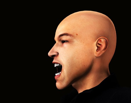 A angry man who is shouting in frustration. Stock Photo - 7383644