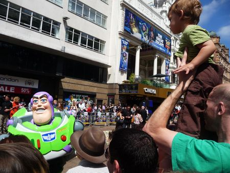 lightyear: LONDON - July 18: Buzz Lightyear at Toy Story 3 Premiere July 18th, 2010 in Leicester Square London, England