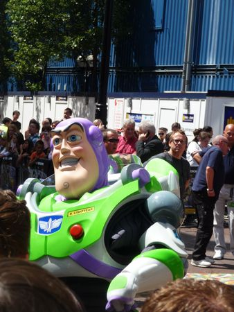 lightyear: LONDON - July 18: Buzz Lightyear at Toy Story 3 Premiere July 18th, 2010 in Leicester Square London, England.