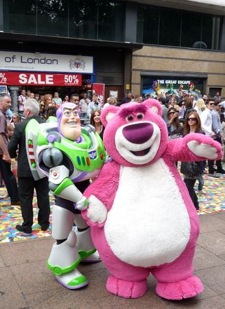 eventful: LONDON - July 18: Buzz Lightyear at Toy Story 3 Premiere July 18th, 2010 in Leicester Square London, England.