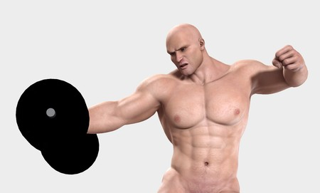 A very strong man lifting a heavy weight. Stock Photo - 7455315