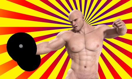 A very strong man lifting a heavy weight. Stock Photo - 7455779