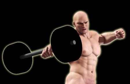 A very strong man lifting a heavy weight. Stock Photo - 7455317