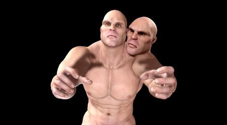 thuggish: Strange image showing a two headed mutant.