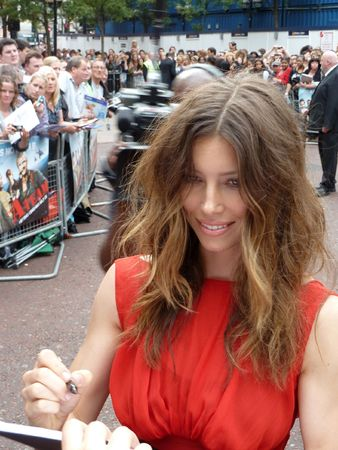 LONDON - July 27: Jessica Biel at A Team Premiere July 27th, 2010 in Leicester Square London, England. Stock Photo - 7482970