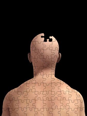메모리 손실 및 alzheimers에 대 한 개념 이미지입니다. 스톡 콘텐츠