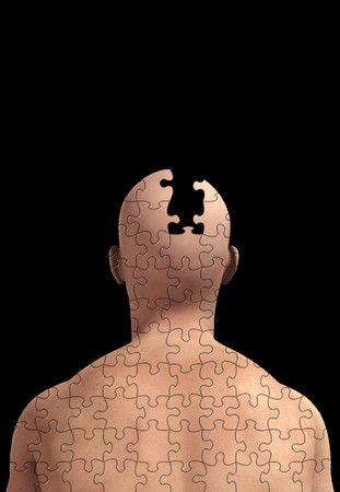 Concept image about memory loss and alzheimers. Standard-Bild