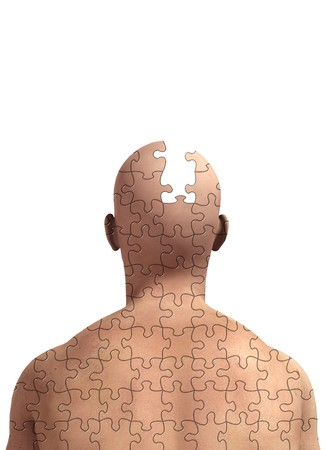 dementia: Concept image about memory loss and alzheimers. Stock Photo