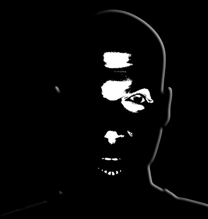 malevolent: A sinister looking face could be used for malevolent concepts.
