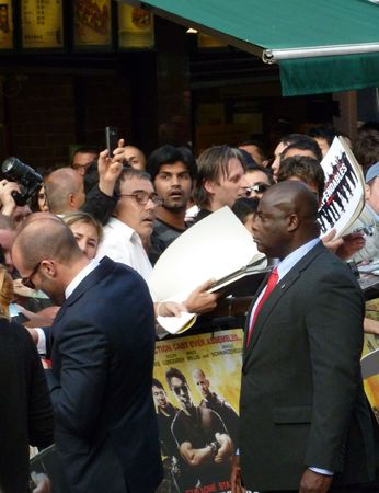 brit: LONDON - August 9: Jason Statham at The Expendables Premiere August 9th, 2010 in Leicester Square London, England