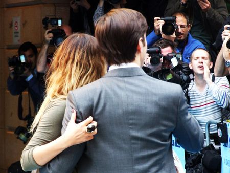celeb: LONDON - August 19: Drew Barrymore And Justin Long at Going The Distance August 19th, 2010 in Leicester Square London, England