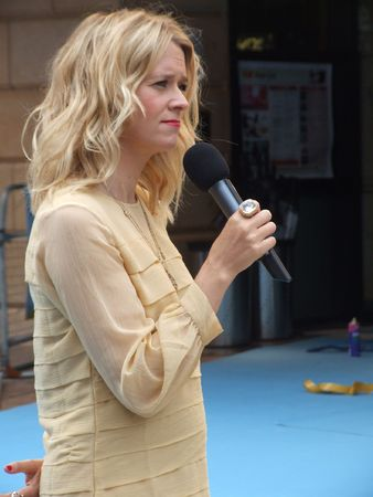 eventful: LONDON - August 19: Edith Bowman at Going The Distance August 19th, 2010 in Leicester Square London, England.