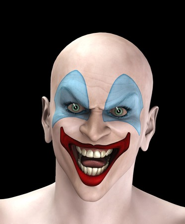 An very evil looking clown for Halloween. Stock Photo - 7768242