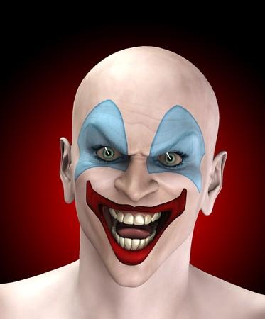b�se augen: Ein sehr b�se aussehenden Clown f�r Halloween.  Lizenzfreie Bilder