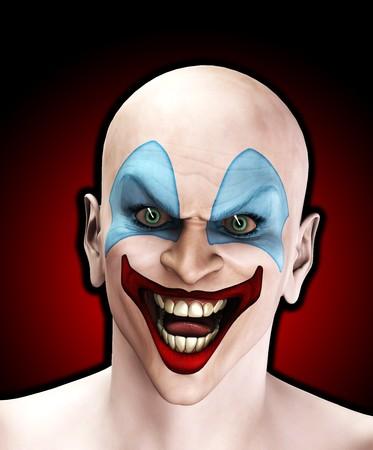 clowngesicht: Ein sehr b�se aussehenden Clown f�r Halloween.  Lizenzfreie Bilder