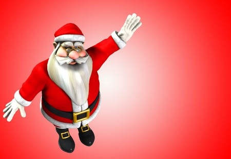 exultant: An image of Father Christmas for Christmas time. Stock Photo