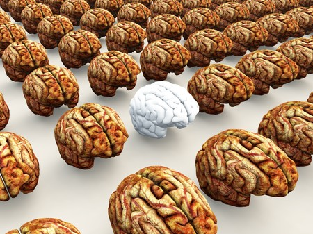 Concept image about thinking differently to other people
