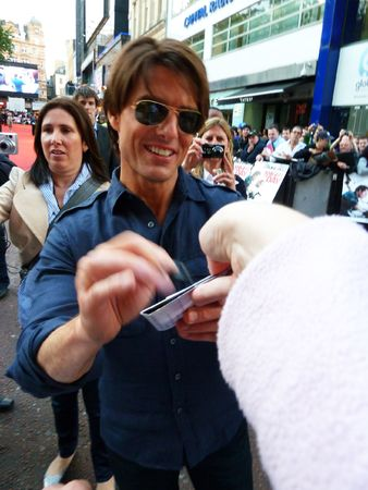 LONDON - July 22: Tom Cruise at the Knight And Day Premiere July 22nd, 2010 in Leicester Square London, England. Editorial