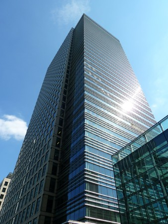 docklands: One of the many office buildings in London Docklands