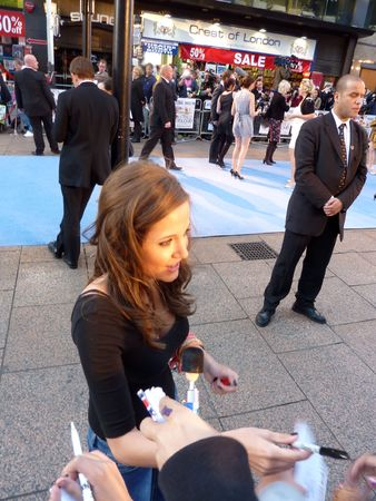 celeb: LONDON - September 16: Madeleine Duggan At The Death And Life Of Charlie St Cloud Premiere September 16th, 2010 in Leicester Square London, England. Editorial