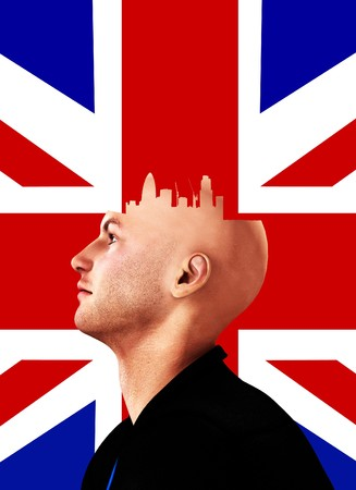 Concept image about someone who always thinks of London. Stock Photo - 7886599