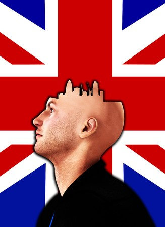 Concept image about someone who always thinks of London. Stock Photo - 7886626
