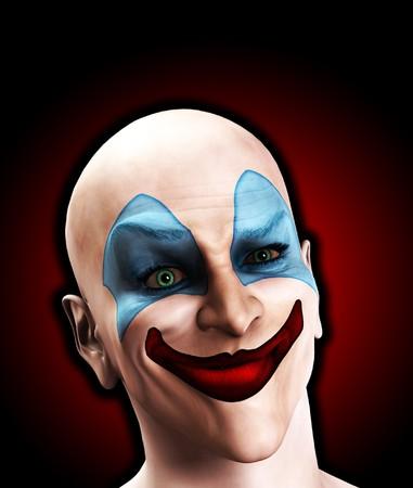 clownophobia: Una imagen de un payaso mal miedo que es extra�a.