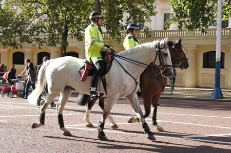 LONDON - September 18: Security For The Pope Visit To Hyde Park September 18th, 2010 in The Mall London, England.