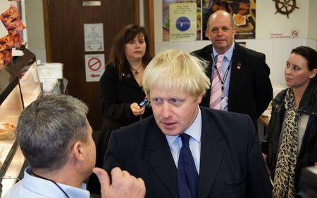 celeb: LONDON - OCTOBER 1: London Mayor Boris Johnson At The Reopening Of Gants Hill Roundabout October 1, 2010 In Gants Hill London, England.           Editorial
