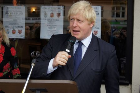 celeb: LONDON - OCTOBER 1: London Mayor Boris Johnson At The Reopening Of Gants Hill Roundabout October 1, 2010 In Gants Hill London, England.