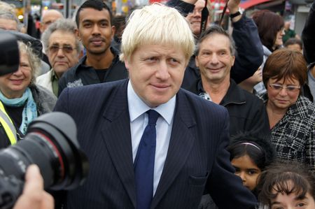 boris: LONDON - OCTOBER 1: London Mayor Boris Johnson At The Reopening Of Gants Hill Roundabout October 1, 2010 In Gants Hill London, England.        Editorial